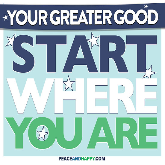UP-WORD Sticker~Start Where You Are