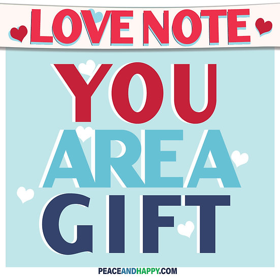 UP-WORD Sticker~You Are A Gift