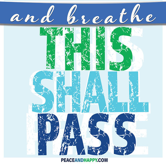 UP-WORD Sticker~This Shall Pass