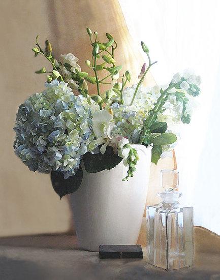 Flowers in the White Vase - Portrait Orientation