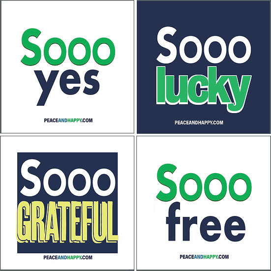 UP-WORD Stickers ~ Sooo Good Collection #2, 4-Piece Power Pack