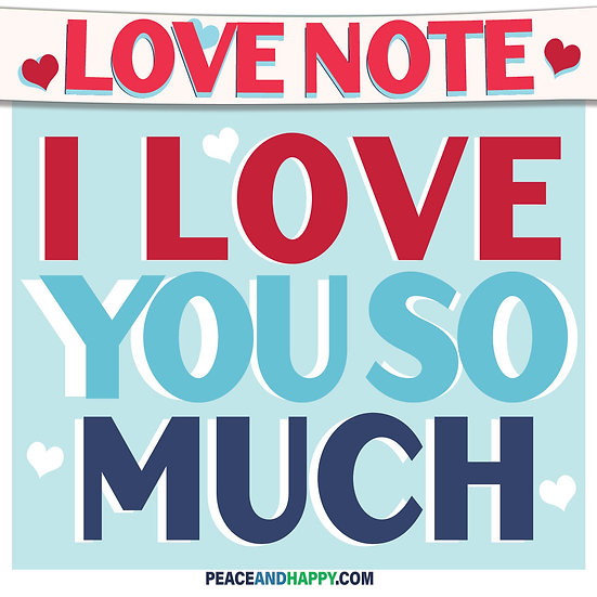 UP-WORD Sticker~I Love You So Much