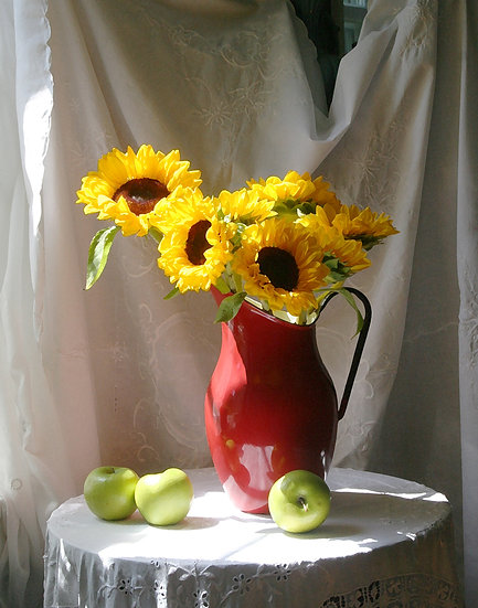 Sunflowers and Apples- Portrait Orientation