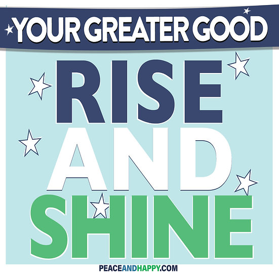 UP-WORD Sticker~Rise And Shine