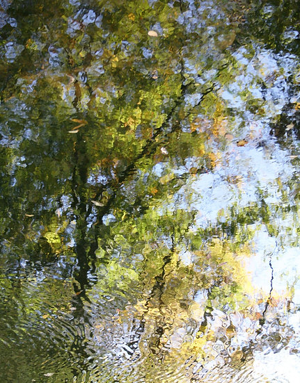 Late Spring's Reflection, Right- Portrait Orientation