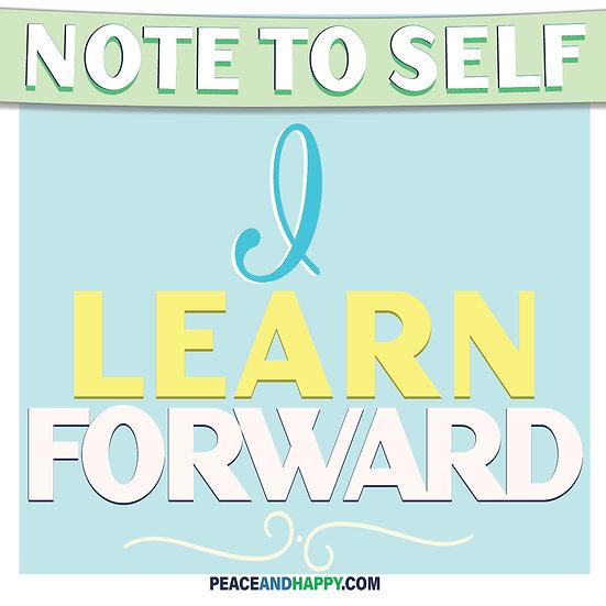 UP-WORD Sticker~I Learn Forward