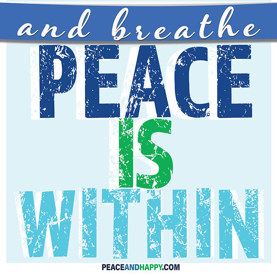 UP-WORD Sticker~Peace Is Within