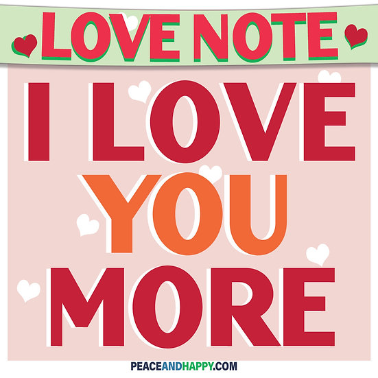 UP-WORD Sticker~I Love You More