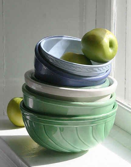 Bowls and Apples- Portrait Orientation