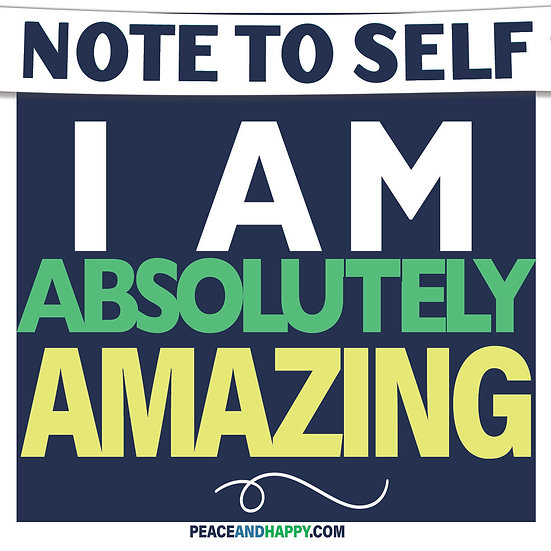 UP-WORD Sticker~I Am Absolutely Amazing