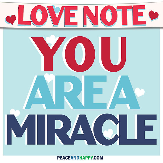 UP-WORD Sticker~You Are A Miracle