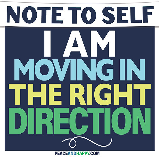 UP-WORD Sticker~I Am Moving InThe Right Direction