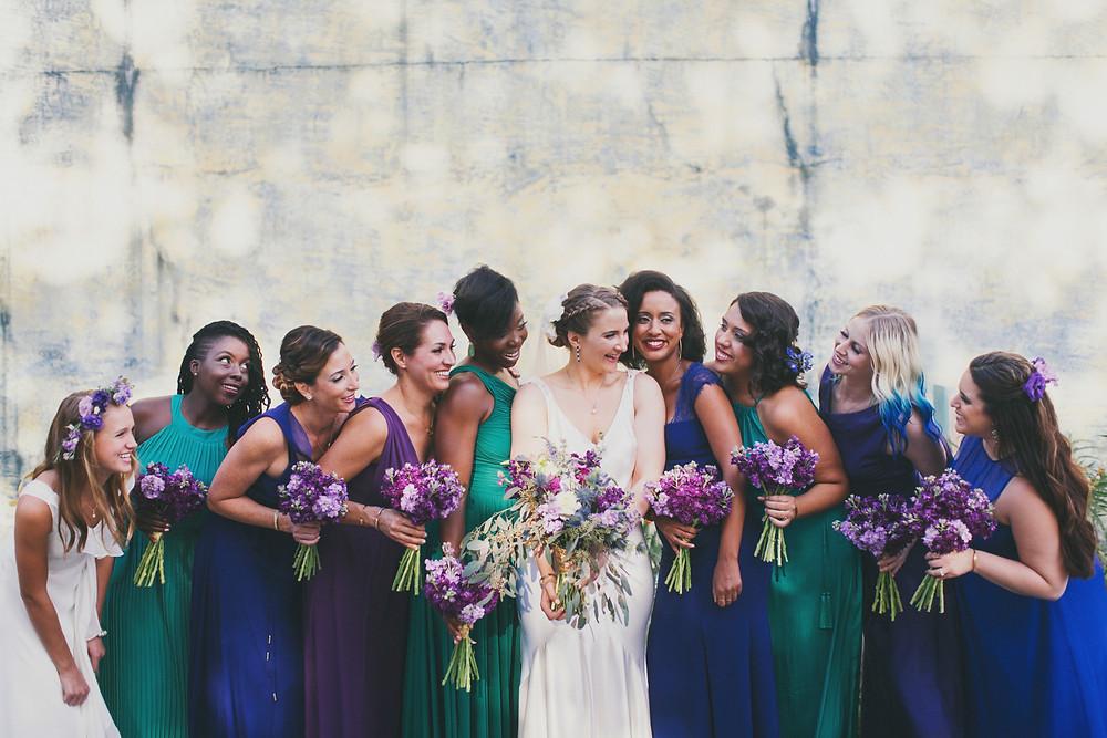 Ayn Slavis Bride and her bridal party