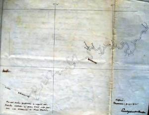 Anotação centenária de Euclides da Cunha mostra contorno do Rio Purus (Foto: Reprodução)