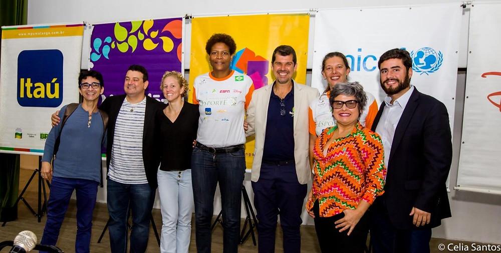 União pela educação: gestores, parceiros e responsáveis pelo projeto em Recife. |Foto: Celia Santos/ Instituto Mpumalanga