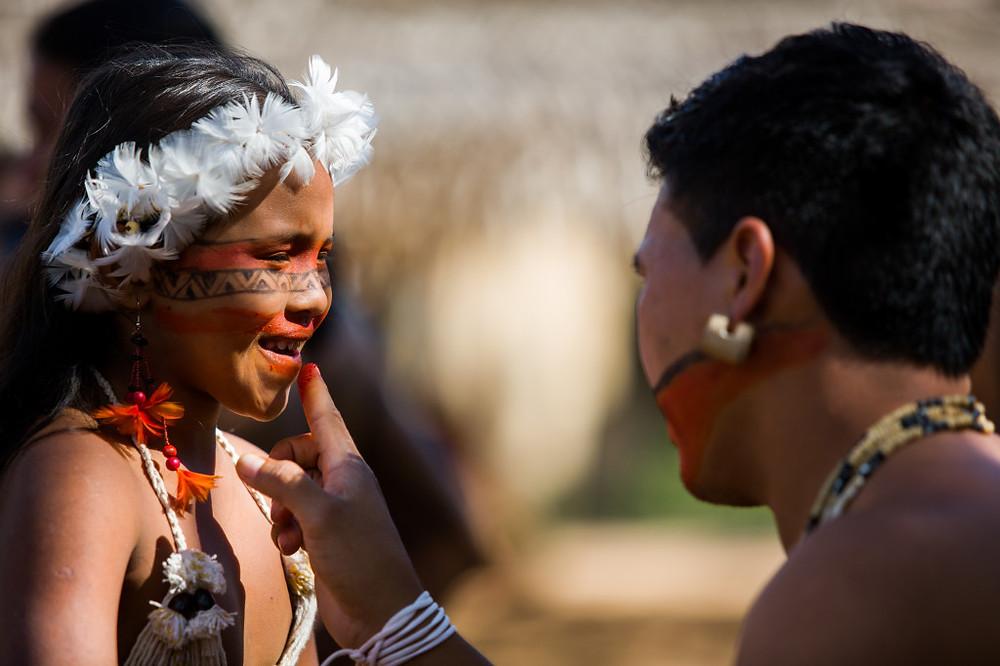 Caravana das Artes tem como um de seus focos a atuação com povos indígenas e a preservação de culturas tradicionais (Foto: Célia Santos)