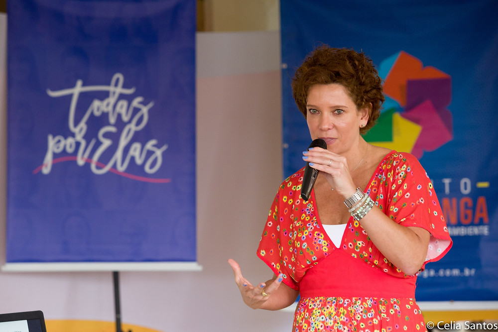 Ana Luiza David está à frente da dinâmica Todas por Elas trazendo seu próprio exemplo de relação com o feminino e com o empreendedorismo. | Foto: Celia Santos/Instituto Mpumalanga