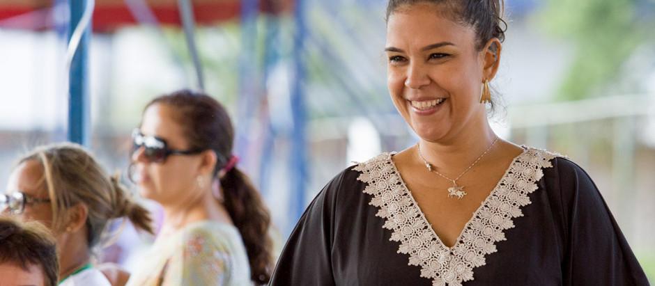 Adriana B é a cantora da Caravana das Artes em Vitória de Santo Antão