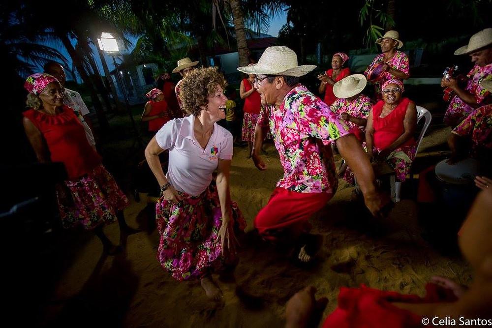 Professora de dança do Instituto Mpumalanga, Rita Lagrota conheceu o samba nascido em Pernambuco. (Foto: Celia Santos)