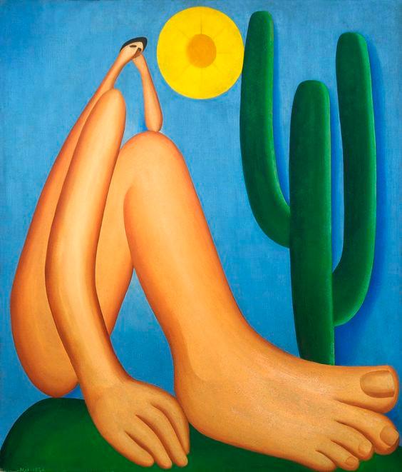 Abapuru (1928) se configurou como um simbolo modernista. É uma das mais famosas telas de Tarsila do Amaral. (Foto: Reprodução)