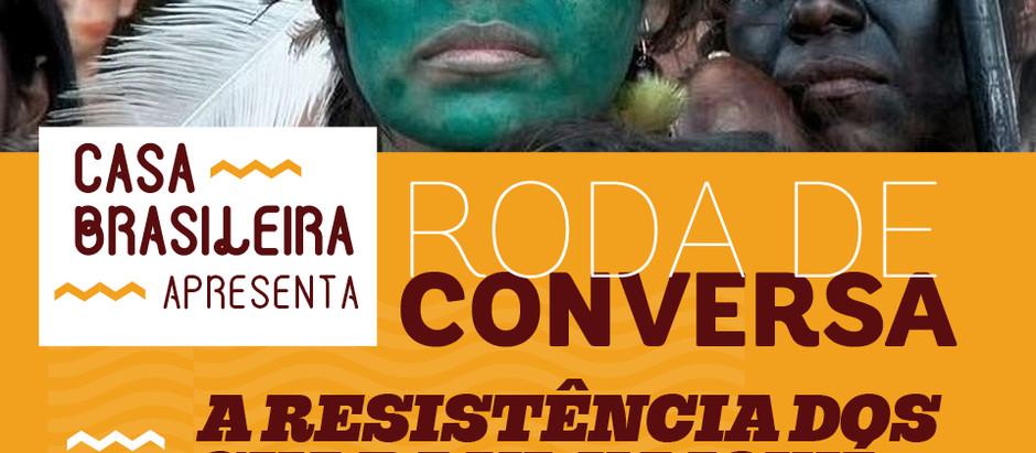 Roda de conversa indígena na Casa Brasileira