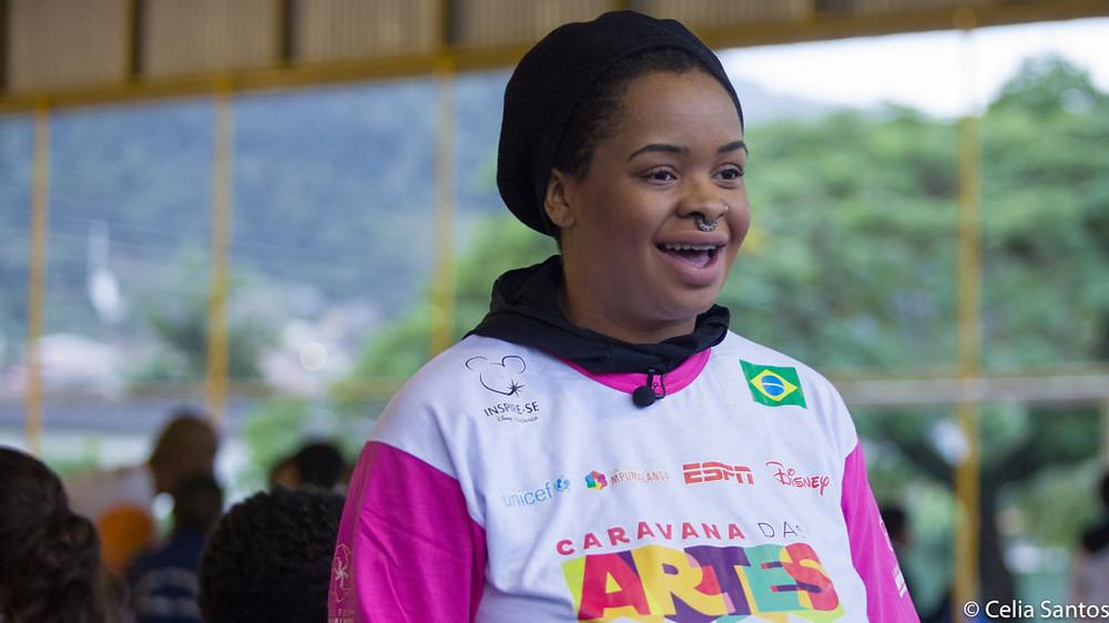 Tássia Reis vestiu a camisa da Caravana das Artes, mas também contou sua relação com o esporte. (Foto: Celia Santos)