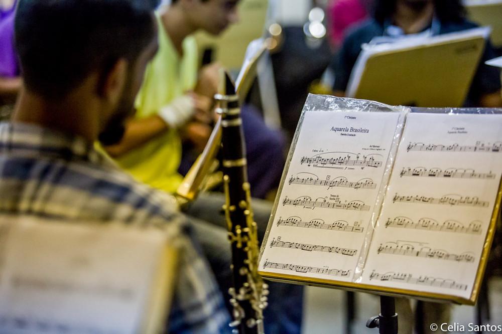 Bandas Filarmônicas são importantes escolas de música, que abrem caminho para estudantes dos municípios. (Foto: Celia Santos)