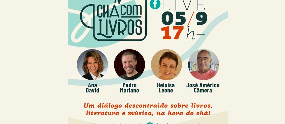 CHÁ COM LIVROS COM O CANTOR PEDRO MARIANO