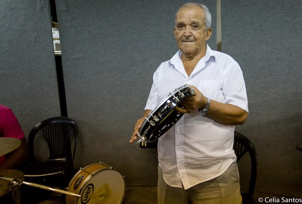 Francisco Chagas, Tico, tem começou a tocar em bandas de carnaval e se descobriu na filarmônica. (Foto: Celia Santos)