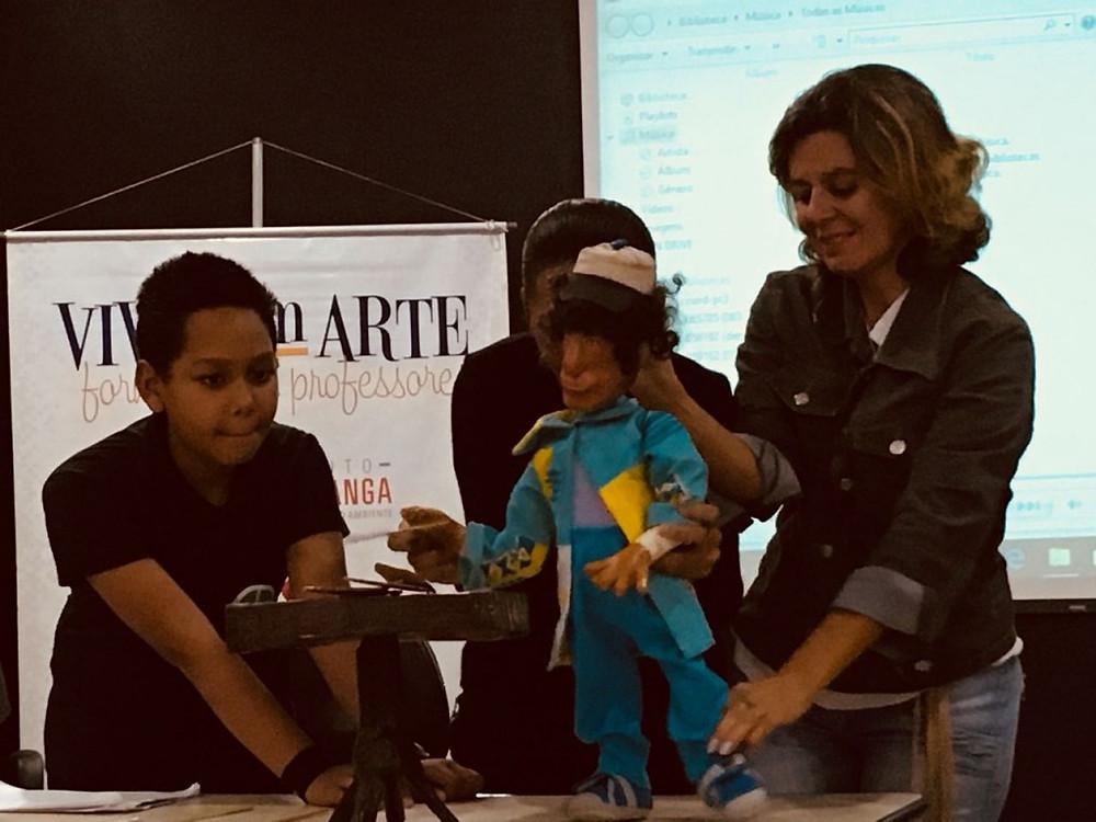 Linguagens artísticas fizeram parte da expressão durante o seminário Viva com Arte.