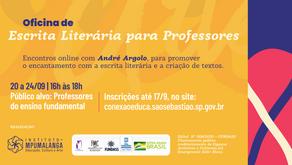 Oficina de Escrita Literária para professores da rede pública de São Sebastião-SP