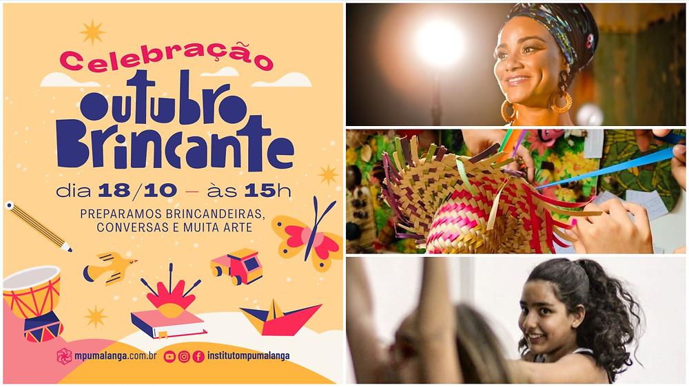 Festival Outubro Brincante com muitas atrações artísticas e brincadeiras para crianças e adolescentes