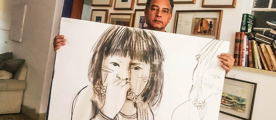 Semana de desenho a carvão com Élon Brasil na Casa Brasileira