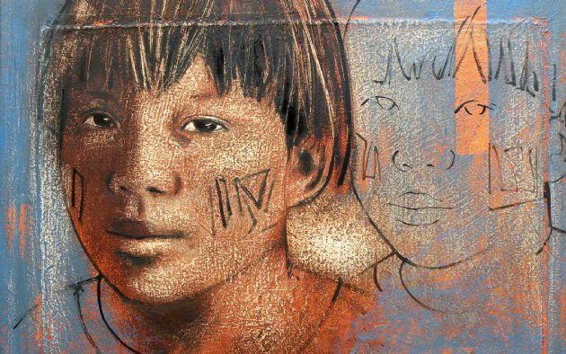 Artista Élon Brasil traz ancestralidade indígena e afro para Casa Brasileira