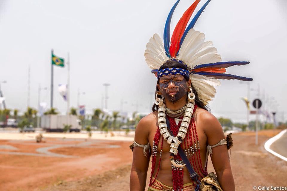 Ubiranan Pataxó viajou do sul da Bahia até Palmas para representar seu povo nos Jogos Mundiais (Foto: Celia Santos)