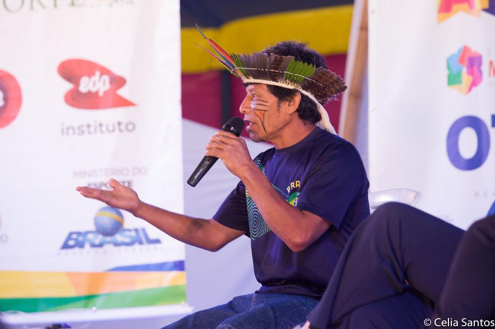 Sergio Macena contestou políticos que apontam para os indígenas como se fossem eles os responsáveis pela devastação das florestas. |Foto: Celia Santos