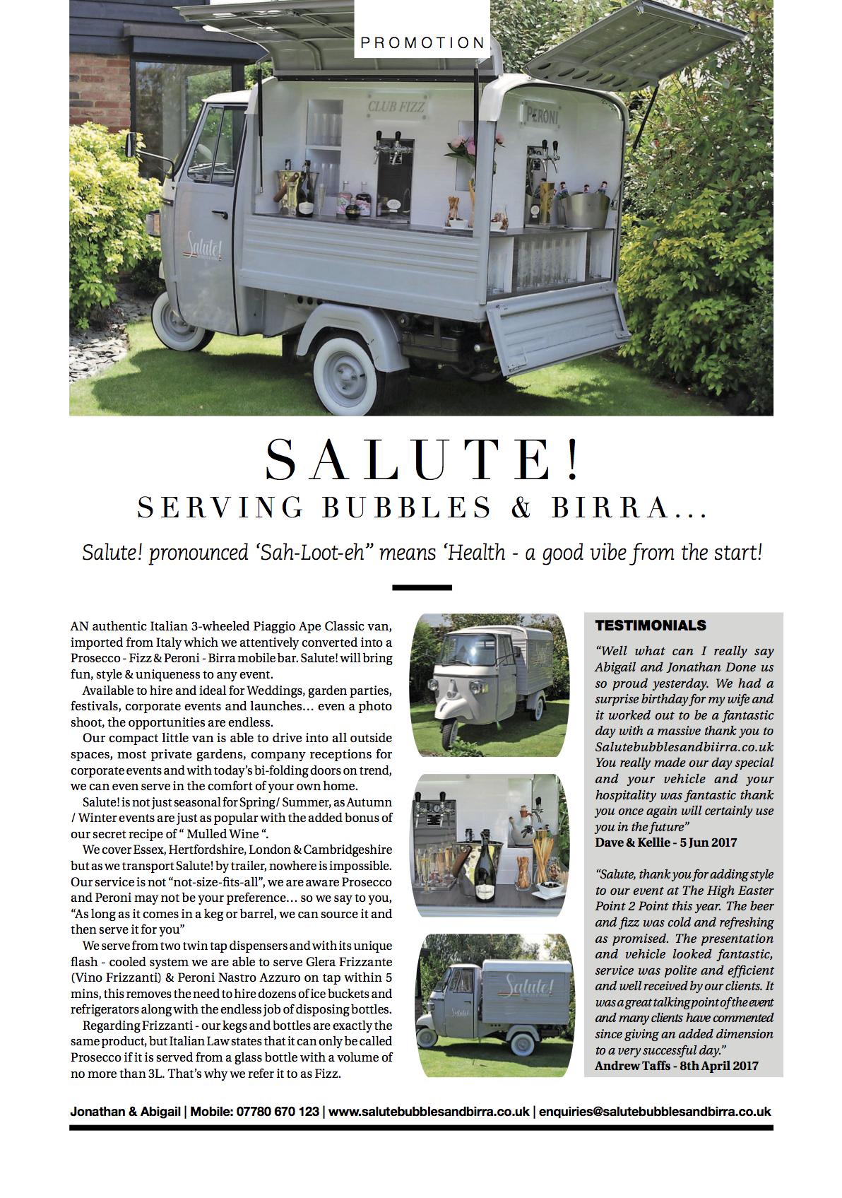 Salute! - West Essex Life July