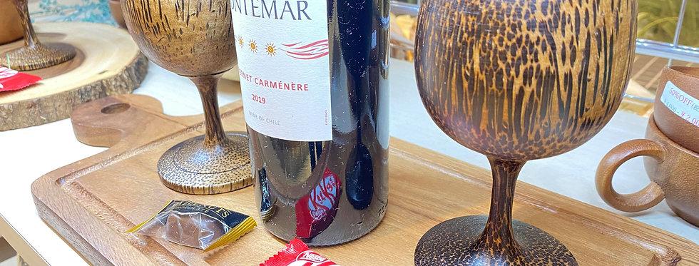 木製 ハンドメイド・カップ(ワイン用・スープ用)