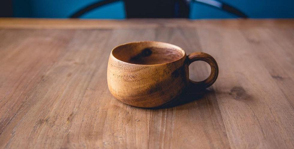 (L Size) 木製 ハンドメイド・コーヒー&スープカップ
