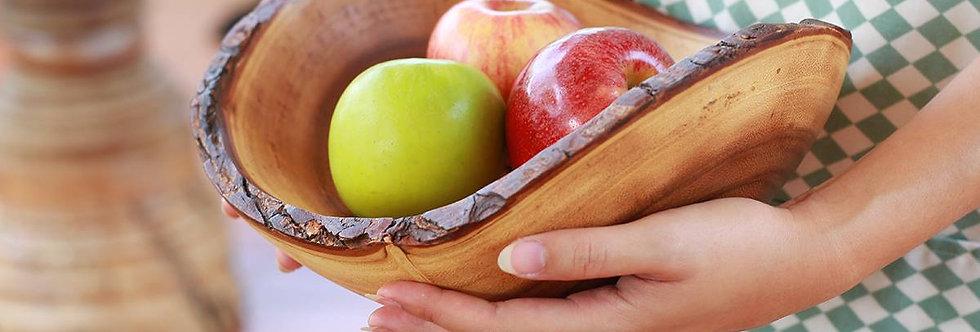 (L Size) ノアの箱舟・木製トレイ・プレート(自然をそのまま・樹皮付き)