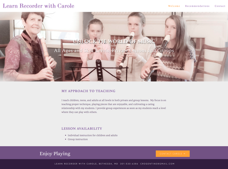 Learn Recorder with Carole