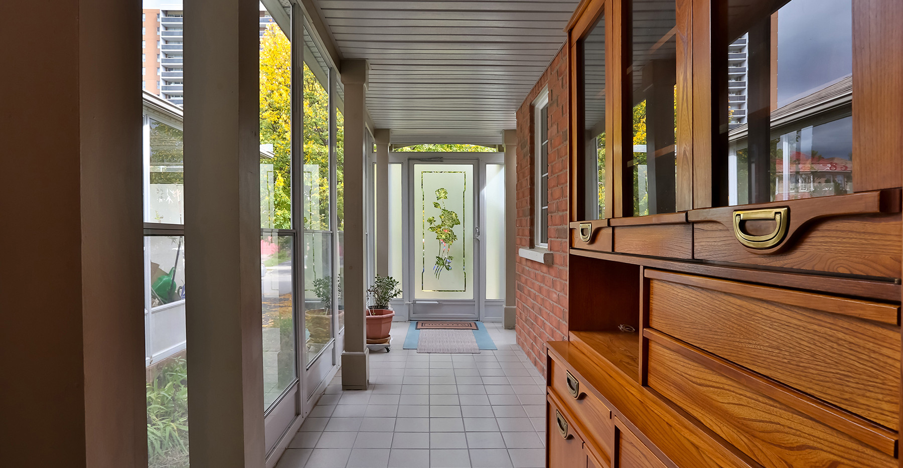 Enclosed front porch