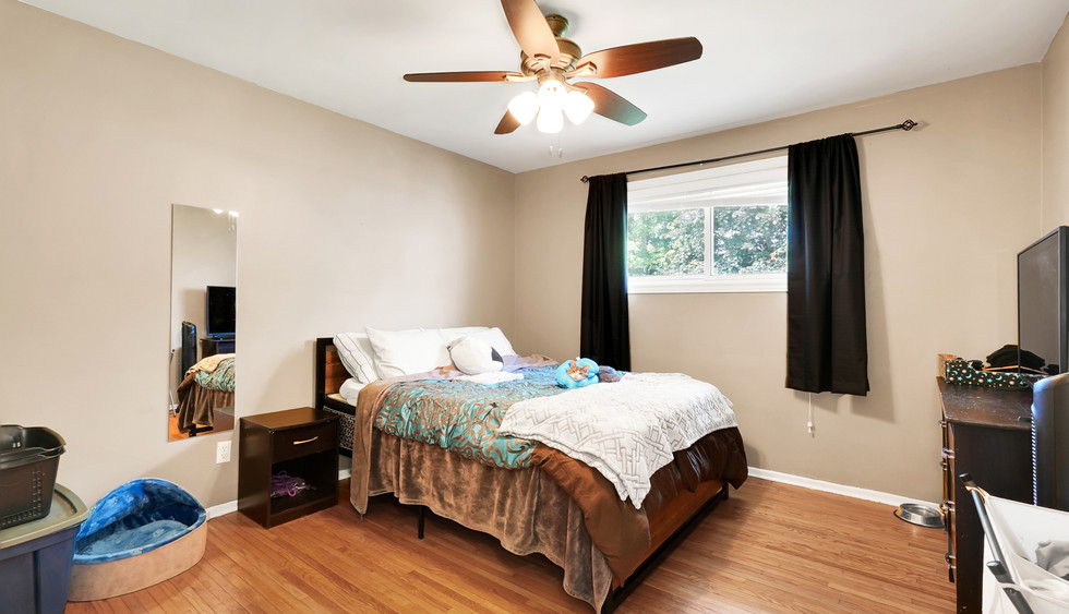 Master bedroom with double closet