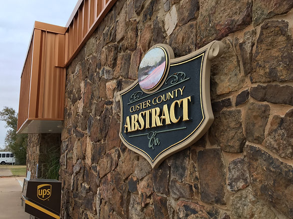 Custer County Abstract Company Outdoor Sign