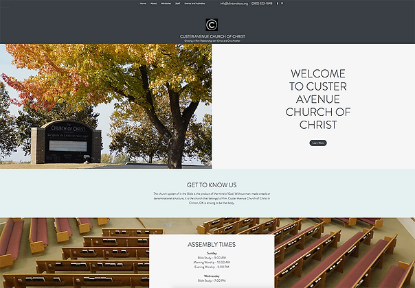 Custer Ave Church of Christ - Web Design