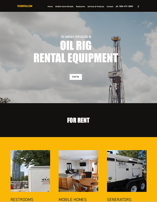 TLC Rentals - Web Design