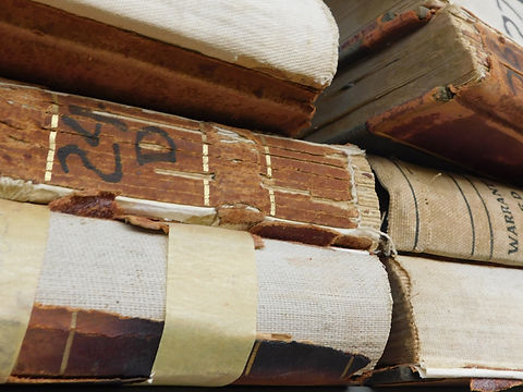 Custer County Abstract Company's old ledger books