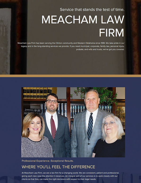 Meacham Law Firm - Web Design