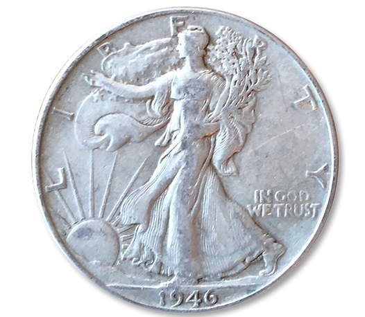 1946 coin given to customers by David Tautfest