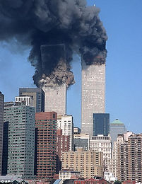 Twin Towers on Fire - 9/11 Ministry Work